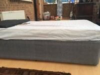 Single Divan Bed with mattress and headboard for sale