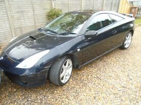 CELICA 1.8 . BLACK METALLIC,SERVICE RECORDS, UNMARKED,2005 NO FAULTS,HPI CHECKED,STUNNING EXAMPLE.