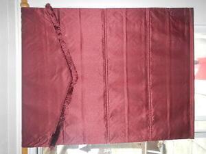 3 burgundy curtains, NEW