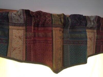 Valance Tapestry - Jacquard Tapestry Valance Rod Pocket Window Valance