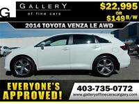 2014 Toyota Venza LE V6 AWD $149 bi-weekly APPLY NOW DRIVE NOW