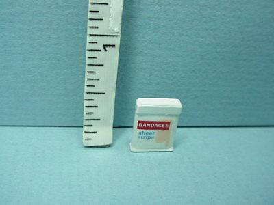 Dollhouse Miniature Bandaids Box- MUL3307- Painted Metal 1/12th Scale