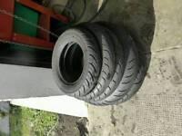 Joblot of motorcycle tyres