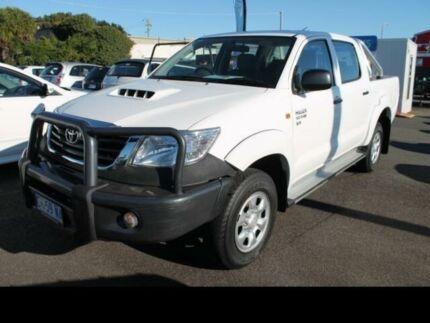 2012 Toyota Hilux HILUX 4X4 SR 3.0L T DIESEL MANUAL DOUBLE CAB C/C 1 White Manual Dual Cab Chassis Devonport Devonport Area Preview
