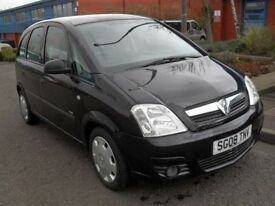 VAUXHALL MERIVA 1.4 LIFE 16V TWINPORT 5d 90 BHP GREAT CONDITION (black) 2008
