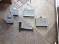 John Lewis Bathroom Fixings - Chrome & Glass.
