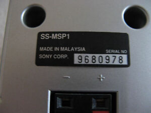 SONY COMPACT SPEAKERS Kitchener / Waterloo Kitchener Area image 2