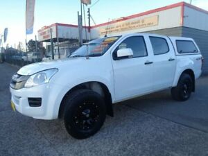 2015 Isuzu D-MAX TF MY15 SX (4x4) White 5 Speed Automatic Crew Cab Utility Sandgate Newcastle Area Preview