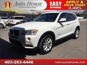 2013 BMW X3 28i PANORAMIC ROOF PUSH BUTTON START