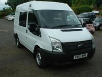 TRANSIT 300 2014 MED-ROOF *IDEAL CAMPER * AIR/CON ,125PS,FSH ONE OWNER