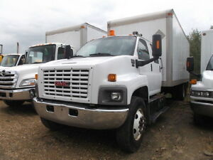 2009 GMC 7500 CREW CAB WITH VAN BODY
