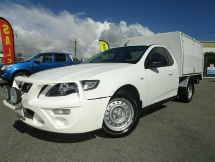 2010 Ford Falcon FG Super Cab White 6 Speed Sports Automatic Cab Chassis