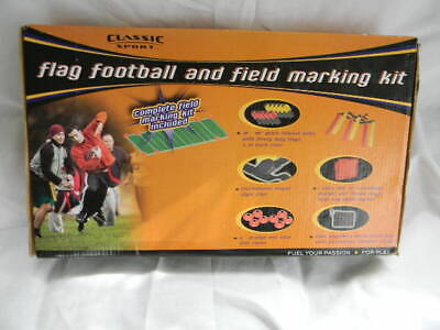 Vintage Classic Sport Flag Football and Field Marking Kit Football Game Fun NEW