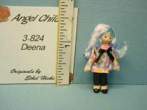"Miniature Ethel Hicks Angel Children Doll ""Deena"" #3-824"