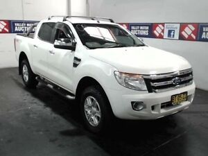 2013 Ford Ranger PX XLT 3.2 (4x4) White 6 Speed Automatic Dual Cab Utility Cardiff Lake Macquarie Area Preview