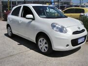 2014 Nissan Micra K13 MY13 ST-L Pearl White 5 Speed Manual Hatchback Wangara Wanneroo Area Preview