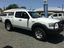2007 Ford Ranger PJ 07 Upgrade XL (4x4) White 5 Speed Manual Super Cab Pick-up Newcastle 2300 Newcastle Area Preview