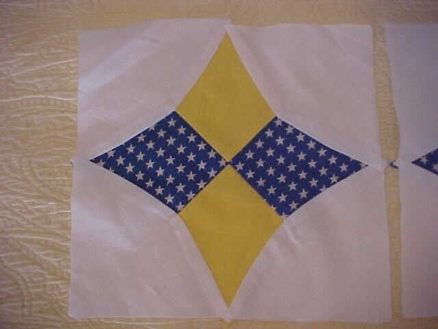 49 Vintage Hand Sewn Star Pattern Quilt Blocks