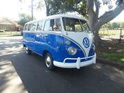 1963 Volkswagen Kombi SPLIT WINDOW 15 WINDOW Blue Manual MICROBUS Concord Canada Bay Area Preview