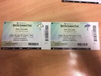 2 x Phil Collins tickets * Hyde Park * Friday 30 June * £50 each