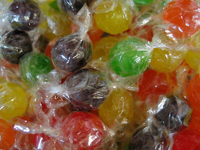Asst Fruit Sour Balls By Primrose Old Fashion Wrapped Hard Candy    1 Lbs