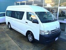 2010 Toyota Hiace KDH223R MY07 Upgrade Commuter White 4 Speed Automatic Bus Hobart CBD Hobart City Preview