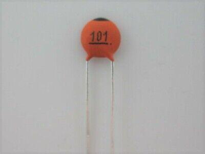 100pcs - 100pf .1nf 101 50 Volts Disc Ceramic Capacitor Ref 68a