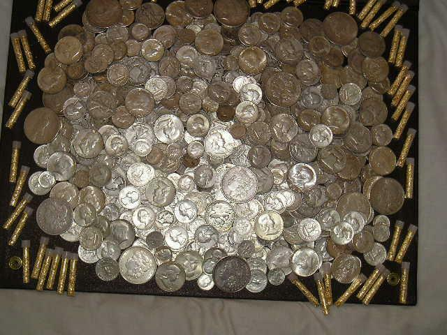 16 oz (1 LB) 90% US MIXED COINS w/ SILVER DOLLAR HALVES QUARTERS DIMES ~ INVEST!