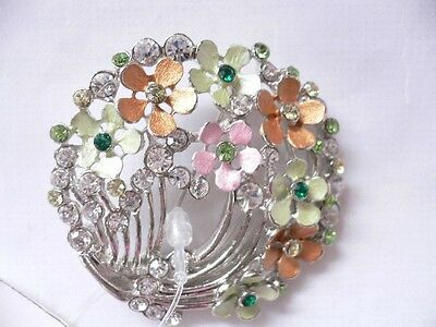 (Spring Flowers Brooch Pin..elegant..w/ gift box..free ship)