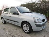 Renault Clio 1.2 Expression 5 Door, 04 Reg. Immaculate Condition throughout, 93000 Miles