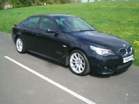 "BMW 520d ""M"" Sport 59rg Blue FSH (6no) 84675m Excellent cond Satnav Bluetooth Aircon Leather Mot Nov"