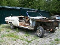 1965 or so rolling Valiant Convertible body shell.