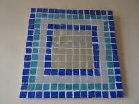 Handmade Blue Mosaic Mirror