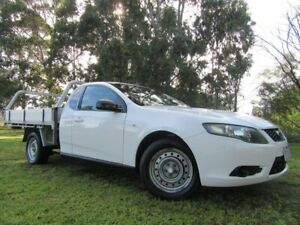 2009 Ford Falcon FG Super Cab White 4 Speed Sports Automatic Cab Chassis Dandenong Greater Dandenong Preview