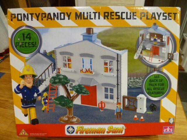 Fireman Sam - Pontypandy Multi rescue Playset- excellent condition includes original box