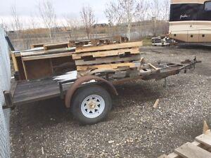 Small 4x8 utility trailer