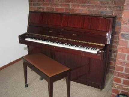 Yamaha piano with matching stool