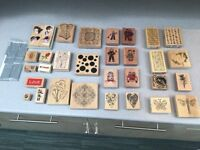 Card Making Wooden Block Stamps for sale