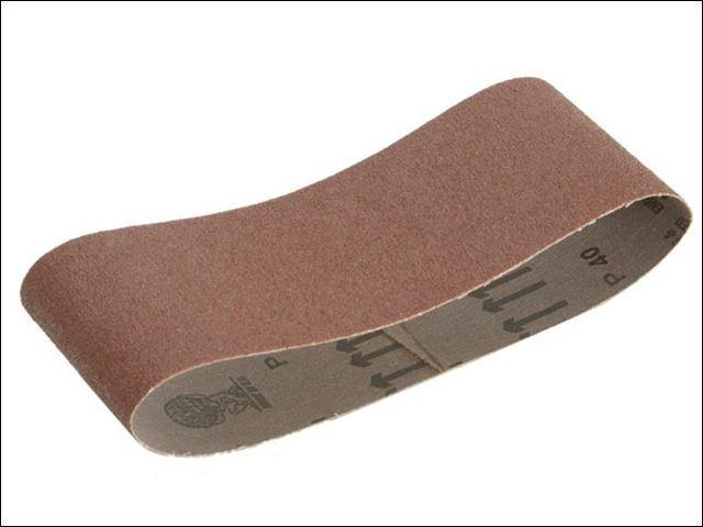 Faithfull - Cloth Sanding Belt 457 x 75mm 80g (Pack of 3) -
