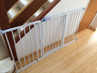 wide child gate for sale with one end stopper missing