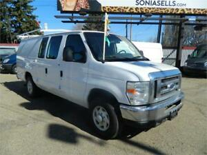 2008 FROD E-250 CARGO VAN/LADDER RACKS & MORE