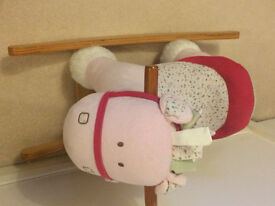 REDUCED BARGAIN Cute present, BEAUTIFUL Mamas and Papas, soft padded ROCKING HORSE