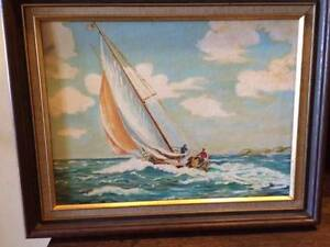 Oil Painting of Yacht Mentone Kingston Area Preview