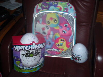 Hatchimals Hatching Egg Interactive Draggles Egg   Backpack   46 Pc Puzzle New