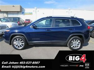 2014 Jeep Cherokee Limited, leather, loaded, winter tires!!