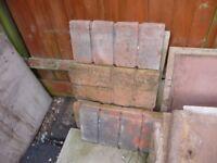 garden edging slabs - set of 6 - bargain- never used
