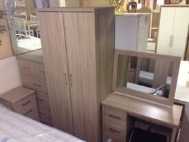 New Sonoma Oak effect 2 door wardrobe with locking drawer Get yours now Only £119
