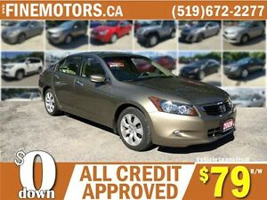 2009 HONDA ACCORD EX-L LUXURY SEDAN * LEATHER * PWR ROOF * WOW