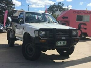 1994 Toyota Hilux LN106R White 5 Speed Manual Cab Chassis South Toowoomba Toowoomba City Preview