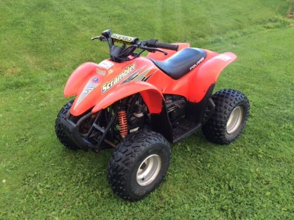 Used 2004 Polaris Scrambler 90 CC kids ATV